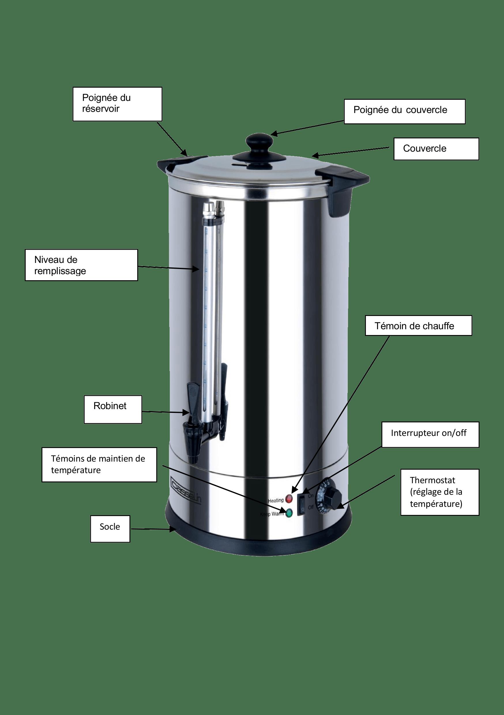 Distributeur eau chaude 6,8 L   Description68-description