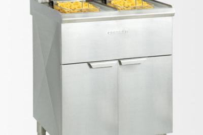 Friteuse électrique sur pieds 2×10 litres haut rendement