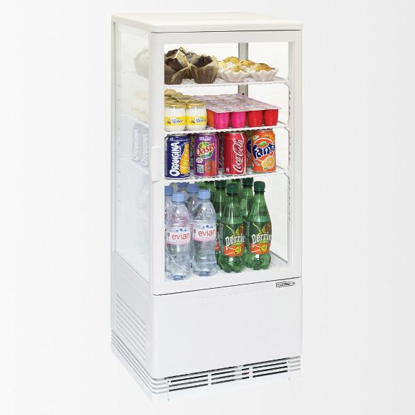 Mini vitrine réfrigérée positive 78L Blanche