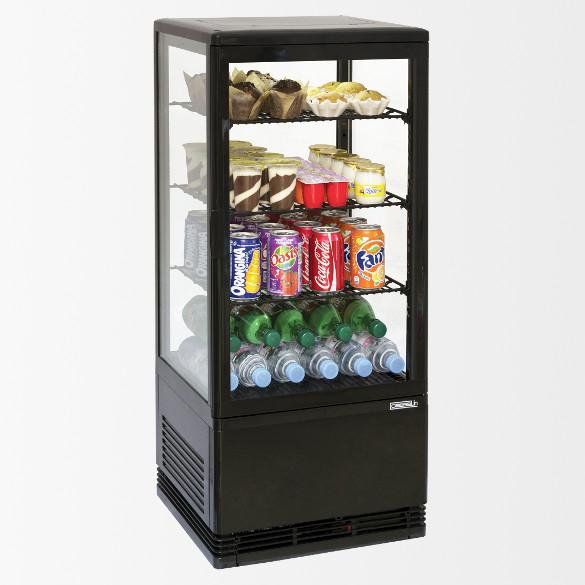 Mini vitrine réfrigérée positive 78L Noire