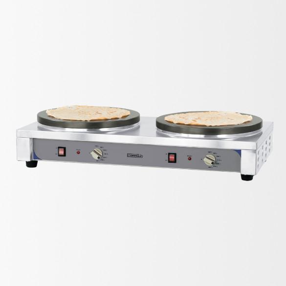 Crêpière double Ø400 mm premium