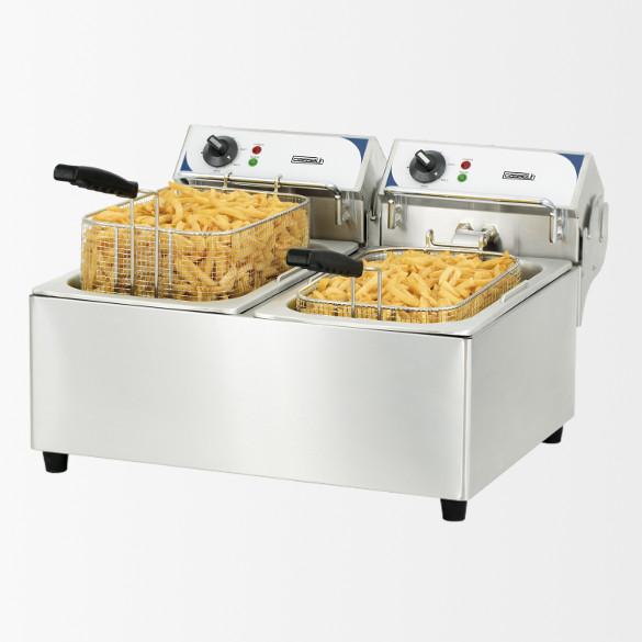 Friteuse électrique 2 x 10 litres