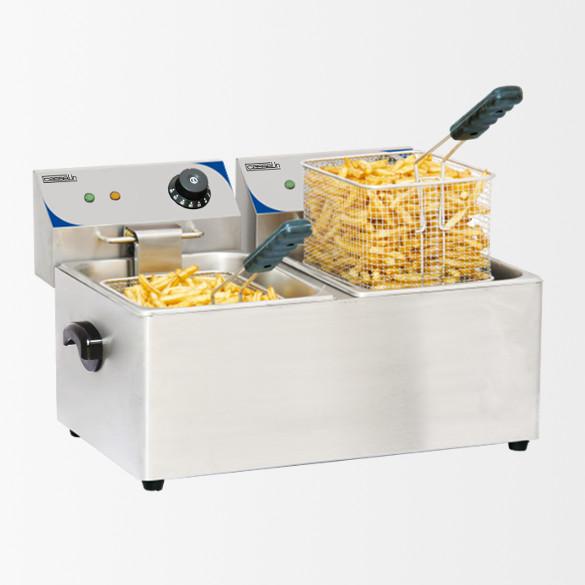 Friteuse électrique 2 x 4 litres