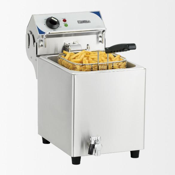 Friteuse électrique avec vanne de vidange  7 litres