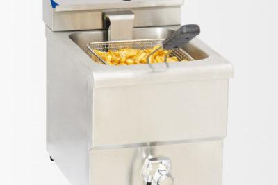 Friteuse électrique avec vanne de vidange 8 litres