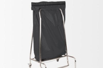 Porte sac poubelle en inox 110 litres