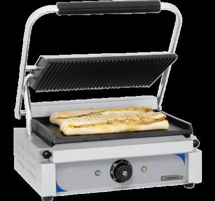 Grill panini plaques rainurée lisse