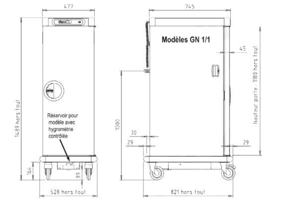 Armoire de maintien en température avec hygrométrie 15 GN1/1