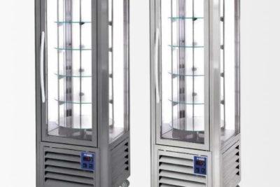 Vitrine Panoramique ventilée 5 plateaux tournants 360 litres