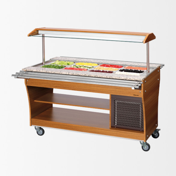 Chariot buffet froid 4×1/1 GN