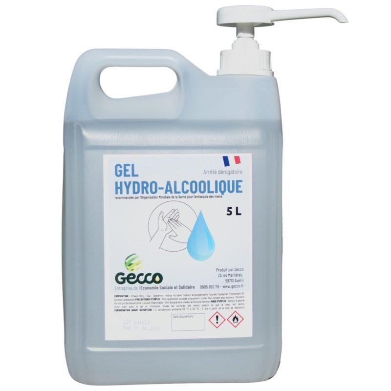 Bidon 5 litres Gel HydroAlcollique avec POMPE