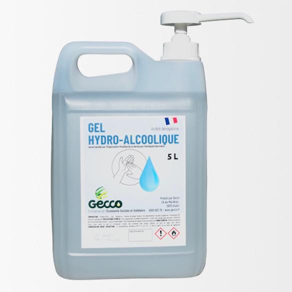 Bidon 5 litres Gel HydroAlcoolique avec POMPE