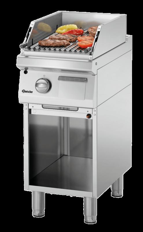 Grill Pierre Lave 400, 700 | Grille de cuisson ondulée pour la viande