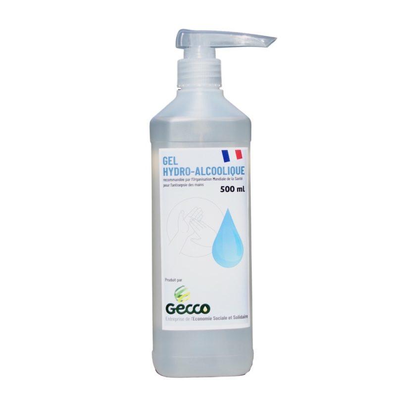 Bouteille 500 ml Gel HydroAlcoolique avec POMPE