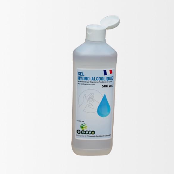 Bouteille 500 ml Gel HydroAlcoolique avec capsule