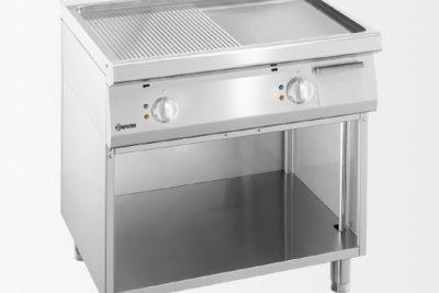 Plaque grill 700, L600, 1/2-1/2 SO