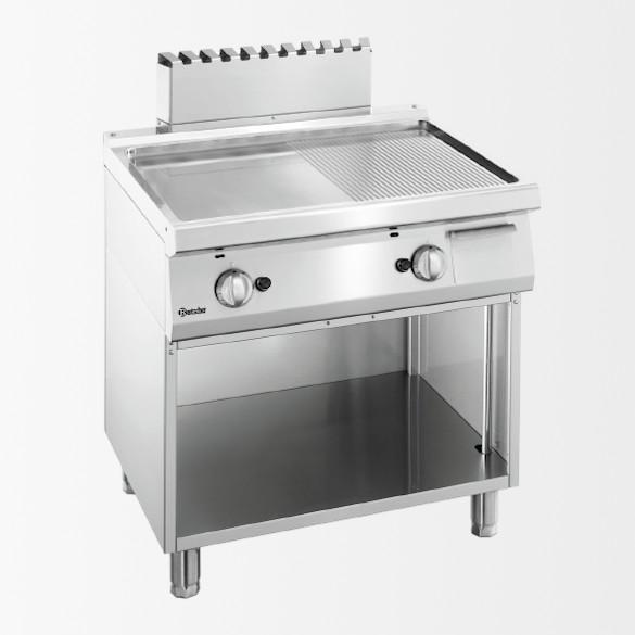 Plaque grill gaz 700, L800, 1/2-1/2