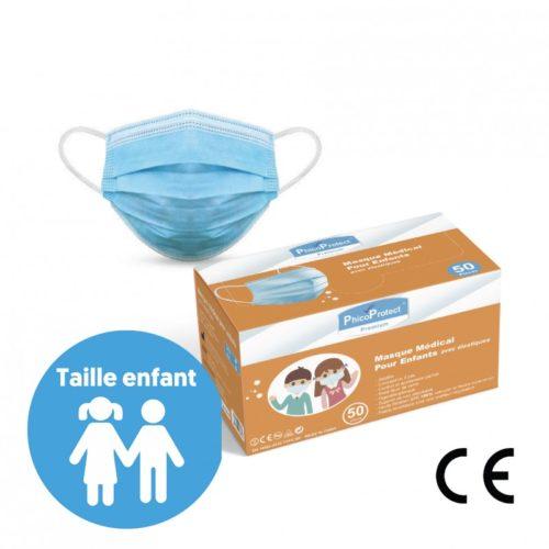 Masques pédiatriques - Masque chirurgical enfant type 2R - 6 à 10 ans