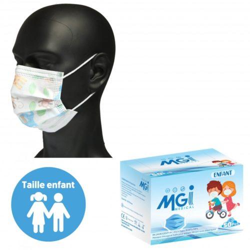 Masques pédiatriques - Masque jetable pédiatrique type 2R - 6 à 10 ans