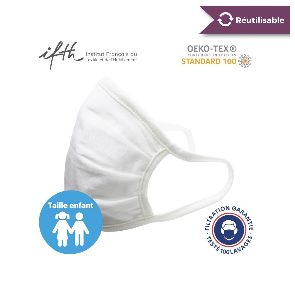 Masque AFNOR UNS 1 - lavable 100 fois certifié Oekotex