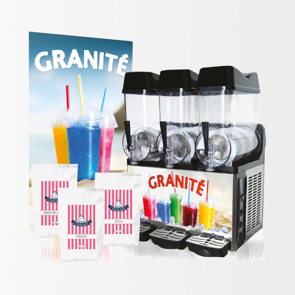 Kit Granita 3 Bacs | machine G12X3